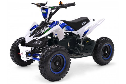 XTM MONSTER 36v 800w QUAD BIKE WHITE BLUE