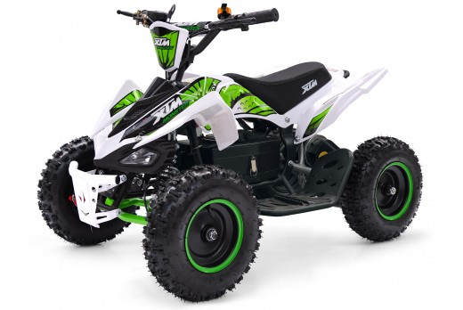 XTM MONSTER 36v 800w QUAD BIKE WHITE GREEN