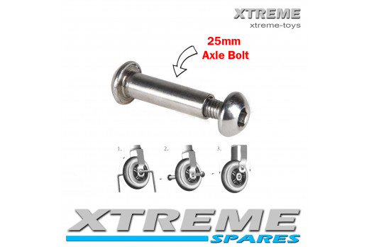 PUSH SCOOTER 25MM WHEEL AXLE BOLT