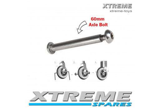 PUSH SCOOTER 60MM WHEEL AXLE BOLT