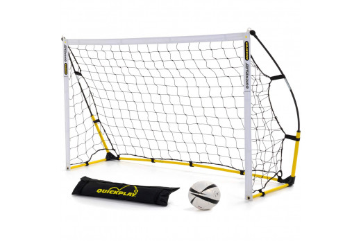 QuickPlay Kickster Academy Ultra-Portable 6' x 4' Football Goal Yellow