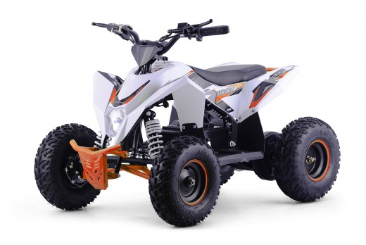 XTM RACING 1000w QUAD BIKE WHITE ORANGE