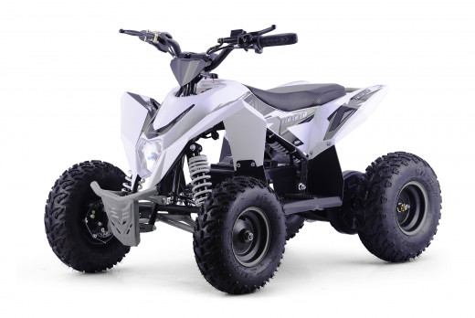 XTM RACING 1000w QUAD BIKE WHITE SILVER