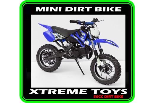 MINI DIRT BIKE CRX / MOTOR BIKE BLUE PLASTICS KIT
