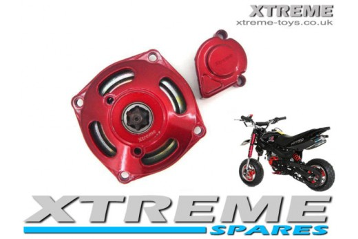 MINI QUAD/ DIRT BIKE/ MINI MOTO RED CLUTCH HOUSING 6 TOOTH 8mm CLUTCH BELL 49cc
