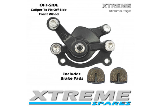 XTM MONSTER QUAD FRONT OFF-SIDE BRAKE CALIPER WITH BRAKE PADS