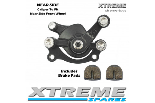 XTM MONSTER QUAD FRONT NEAR-SIDE BRAKE CALIPER WITH BRAKE PADS