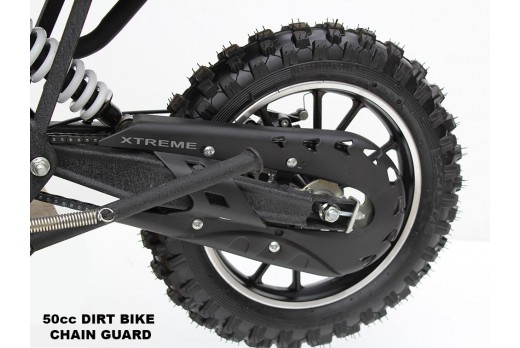 MINI MOTO / DIRT BIKE /  PLASTIC CHAIN GUARD COVER 49cc CRX