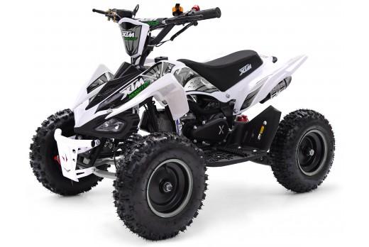 XTM MONSTER 50cc QUAD BIKE WHITE SILVER