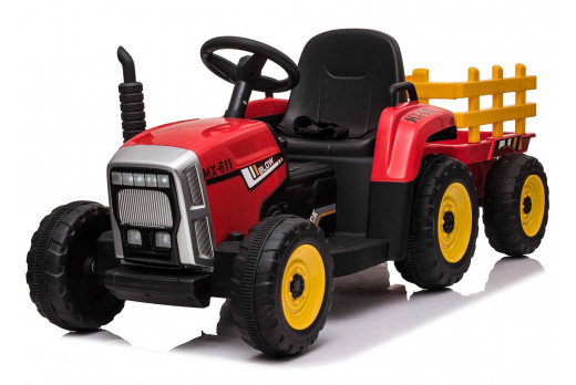 Xtreme 12V Ride on Electric Farm Tractor With Trailer And 2.4G Remote Control Red
