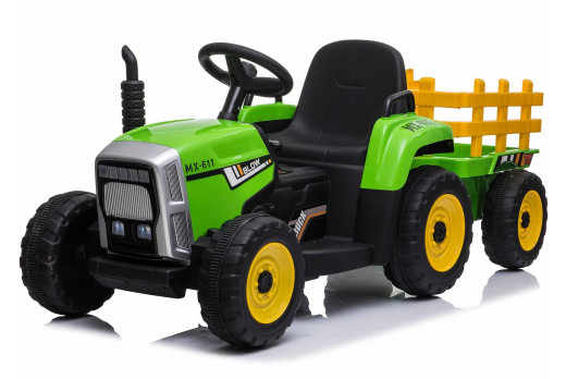 Xtreme 12V Ride on Electric Farm Tractor With Trailer And 2.4G Remote Control Green