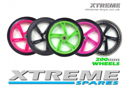 FLICKER 4 SPEEDER SCOOTER WHEEL 200mm TRI SCOOTER ALL COLOUR WHEELS