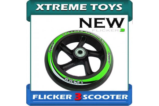 FLICKER 3 SPEEDER SCOOTER WHEEL 145mm TRI SCOOTER WHEELS