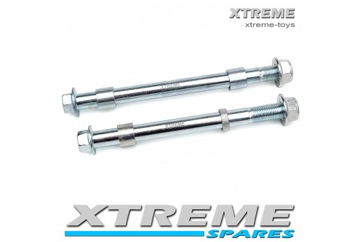 MINI DIRT BIKE FRONT AND REAR AXLE SPINDLE SET WITH SPACERS / XTM/ CRX