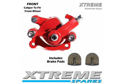 MINI MOTO DIRT BIKE RED FRONT BRAKE CALIPER 50cc