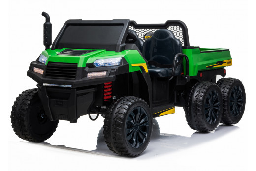 Xtreme BIG 24V 4WD Ride on Utility Truck With Tipper UTV Jeep Green