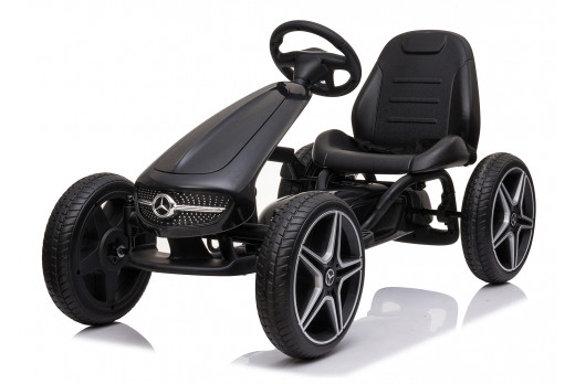 Xtreme Kids Official Licensed Mercedes Benz Go Kart with Hand Brake in Black