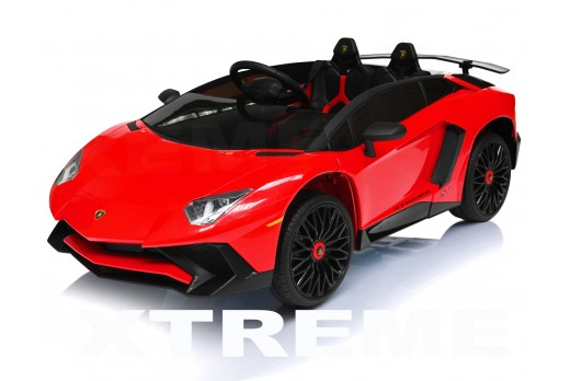 Xtreme 12v Official Licensed Lamborghini Aventador SV Ride on Car Red