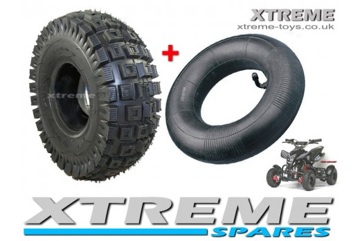 MINI QUAD BIKE TYRE / ATV / GO KART TYRE 3.00 - 4 INCH OFF-ROAD TYRE + INNER TUBE