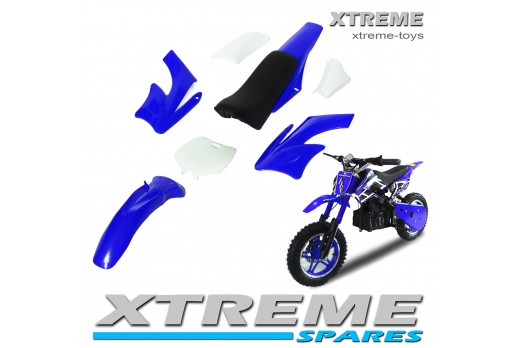 MINI NITRO DIRT BIKE / MOTOR BIKE COMPLETE BLUE PLASTICS KIT