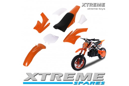 MINI NITRO DIRT BIKE / MOTOR BIKE COMPLETE ORANGE PLASTICS KIT