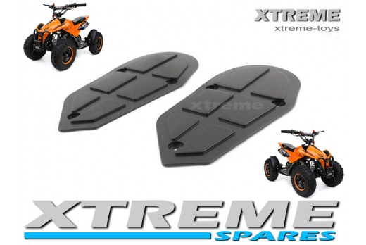 MINI QUAD BIKE ATV PARTS / SPARES PLASTICS FOOT RESTS LEFT + RIGHT 49 - 50cc