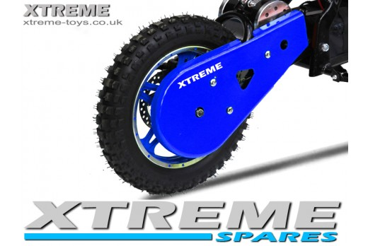 MINI NITRO 800W DIRT BIKE PLASTIC CHAIN GUARD COVER IN BLUE
