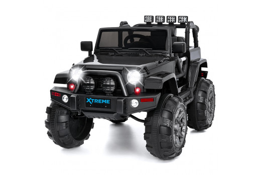 Xtreme 12v Ride on SUV Jeep With Open Doors Black