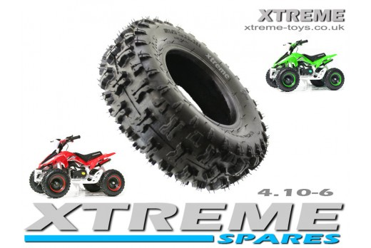 MINI QUAD BIKE TYRE / MONSTER ATV / GO KART TYRE 4.10 - 6