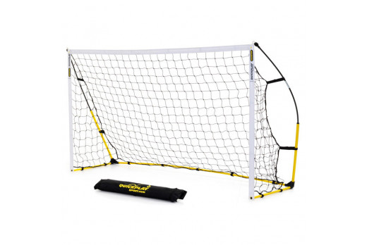 QuickPlay Kickster Academy Ultra-Portable 8' x 5' Football Goal Yellow
