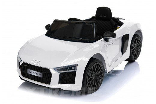 Xtreme 12v Official Licensed Audi R8 Spyder Ride on Car White Single Headrest