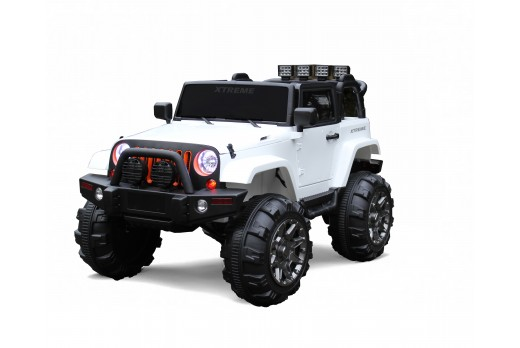 Xtreme 12v Ride on SUV Jeep in White Tinted