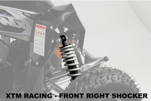 XTM RACING QUAD COMPLETE OFF SIDE FRONT RIGHT SHOCKER