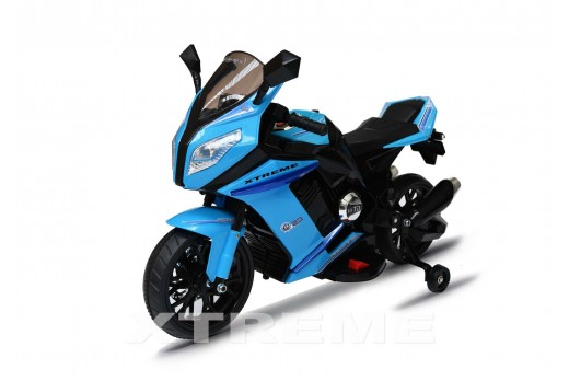 12v Xtreme Electric Motorbike Ride on Car in Blue