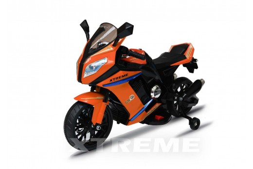 12v Xtreme Electric Motorbike Ride on Road Bike in Orange