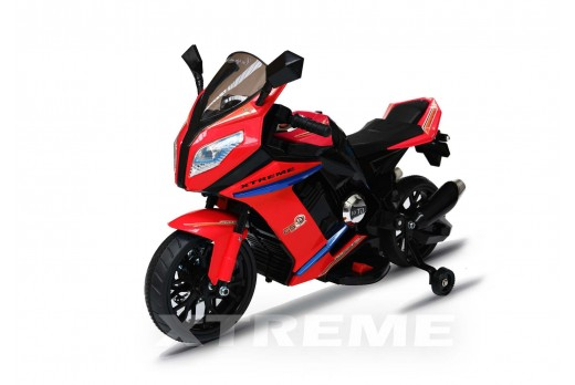 12v Xtreme Electric Motorbike Ride on Road Bike in Red