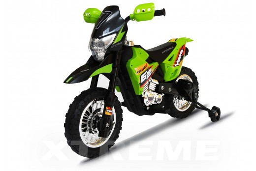 6v Xtreme Electric Motorbike Ride on Car in Green
