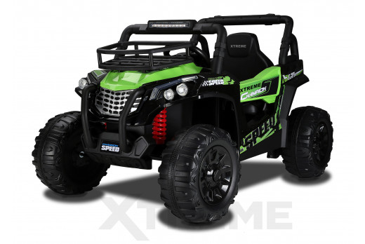 Xtreme BIG 12v Ride on Buggy Off Road UTV Jeep Green