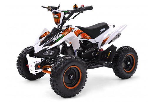 XTM MONSTER 50cc QUAD BIKE WHITE ORANGE