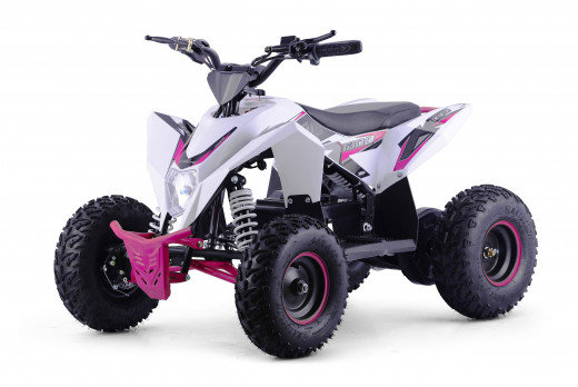 XTM RACING 48v 1300w LITHIUM QUAD BIKE WHITE PINK