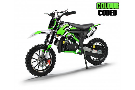 XTM PRO-RIDER 50cc DIRT BIKE COLOUR-CODED GREEN