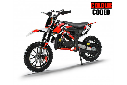 XTM PRO-RIDER 50cc DIRT BIKE COLOUR-CODED RED