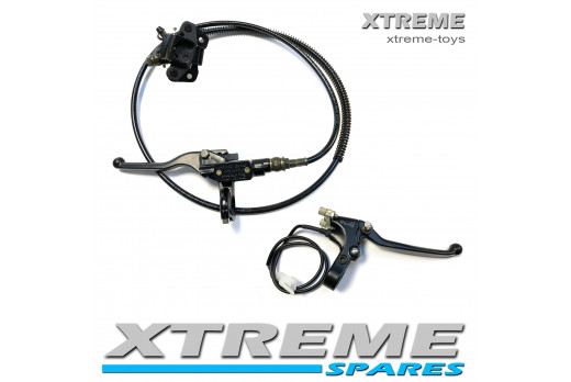 XTM RACING QUAD BIKE COMPLETE FRONT AND REAR HYDRAULIC BRAKE CALIPER SYSTEM SET