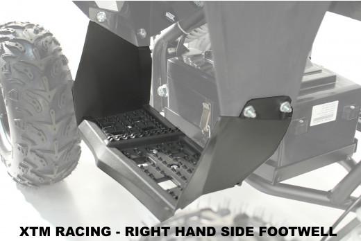 XTM RACING QUAD ATV  PLASTIC FOOTWELL REST RIGHT SIDE