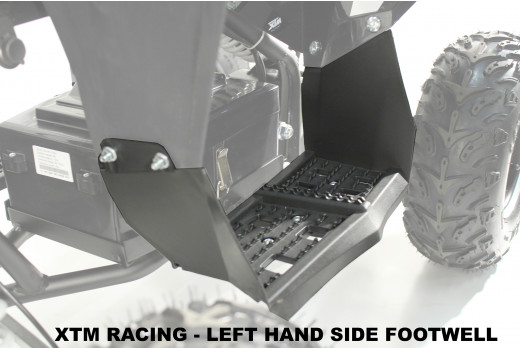 XTM RACING QUAD ATV  PLASTIC FOOTWELL REST LEFT SIDE