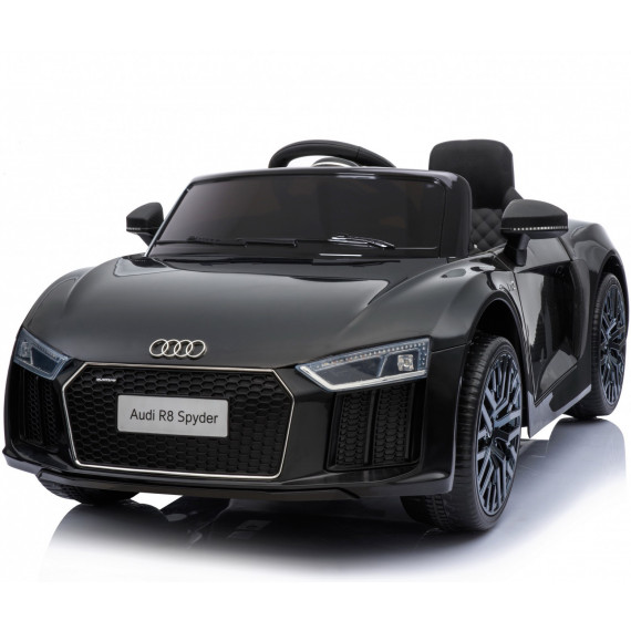 Xtreme 12v Official Licensed Audi R8 Spyder Ride on Car Black Single Headrest