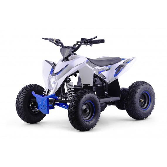 XTM RACING 48v 1300w LITHIUM QUAD BIKE WHITE BLUE