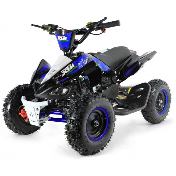 XTM MONSTER 50cc QUAD BIKE BLACK BLUE