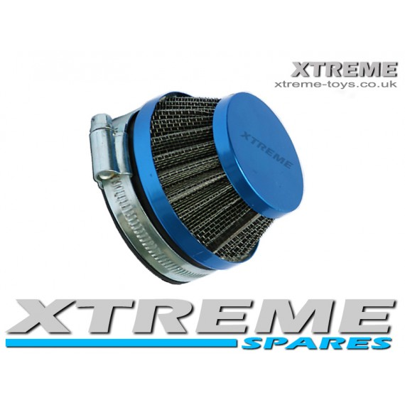 PERFORMANCE MINI MIDI MOTO / DIRT BIKE / QUAD BLUE CONE AIR FILTER 40mm