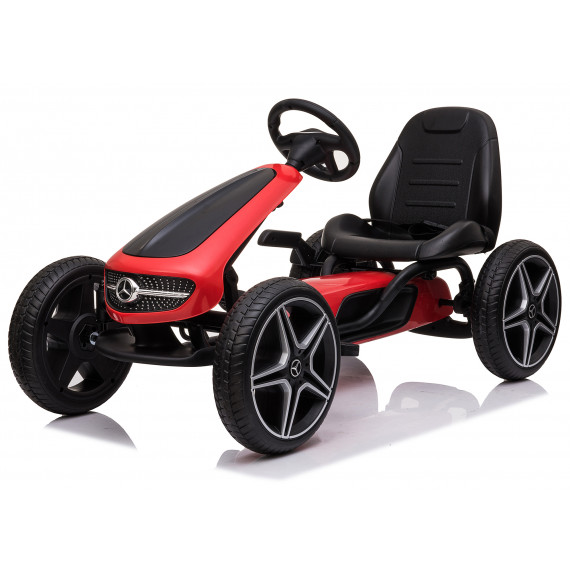 Xtreme Kids Official Licensed Mercedes Benz Go Kart with Hand Brake in Red